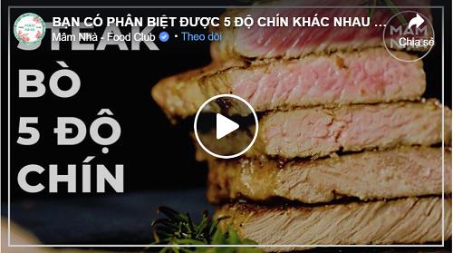 5 độ chín khác nhau của beefsteak
