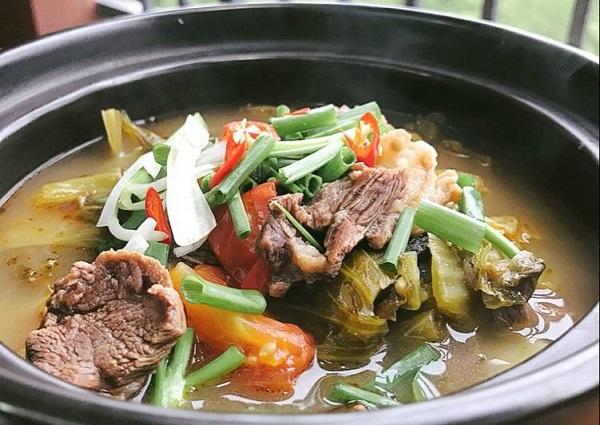 Công thức canh dưa chua thịt bò