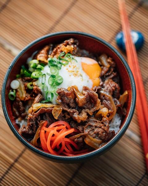 Công thức cơm bò Gyudon