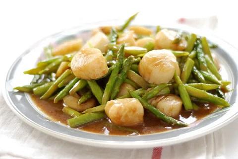 Công thức sò điệp xào măng tây thơm ngon tuyệt đỉnh